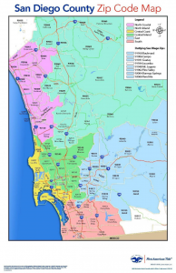 CA zip code map Southern California